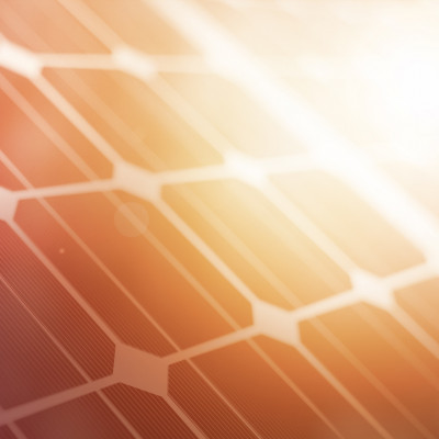Stylized closeup of a solar panel.